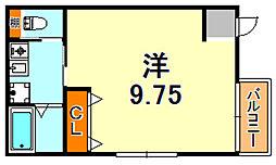 阪神本線 深江駅 徒歩7分の賃貸アパート 2階1Kの間取り