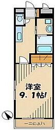 京王線 聖蹟桜ヶ丘駅 徒歩5分の賃貸マンション 1階1Kの間取り