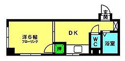 波多江ビル[302号室]の間取り
