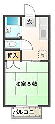 愛知県岡崎市中島東町2丁目の賃貸アパートの間取り