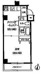スリーアップ桜新町[2階]の間取り