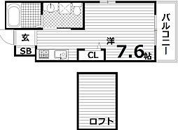 ヴィアノ須磨コルティーレ[2階]の間取り