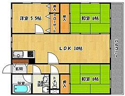 メゾンファミーユ[301号室]の間取り