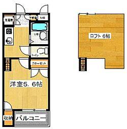 ジュネス飯倉[205号室]の間取り