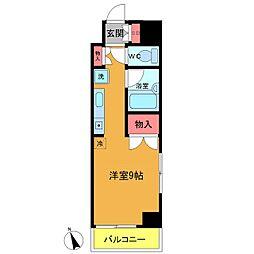 千葉県船橋市本町4の賃貸マンションの間取り