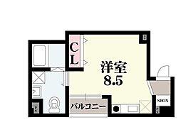 OrientCity・K 5階ワンルームの間取り