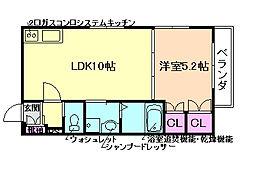 ヘーベルメゾン御幣島[3階]の間取り