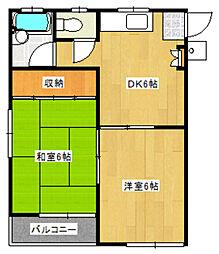 埼玉県さいたま市見沼区大字山の賃貸アパートの間取り