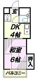 埼玉県狭山市入間川3丁目の賃貸アパートの間取り