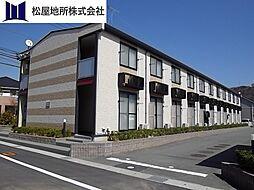 愛知県豊川市御油町井ノ口の賃貸アパートの外観
