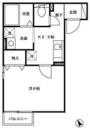 グランディール坂戸三光[1階]の間取り