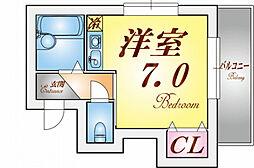 フローラル須磨[4階]の間取り