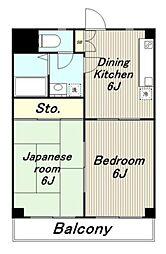 シャンポール[4階]の間取り
