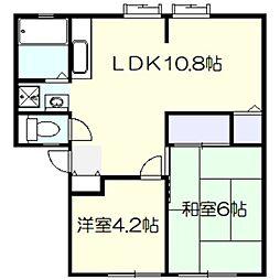 ギャラクシー舞岡[1階]の間取り