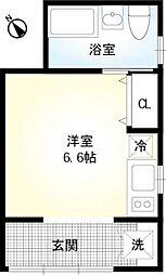東京都台東区下谷2丁目の賃貸アパートの間取り