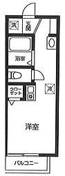 ヴィラベルデ芦花公園 3階ワンルームの間取り