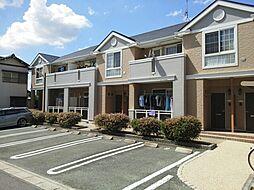 愛知県豊川市小田渕町2丁目の賃貸アパートの外観
