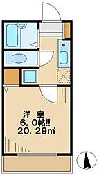 東京都日野市万願寺5の賃貸アパートの間取り