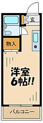 京王相模原線 京王永山駅 徒歩10分の賃貸マンション 3階1Kの間取り