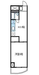 神奈川県厚木市中町3丁目の賃貸マンションの間取り