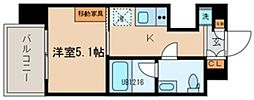TOKIO久米川タワー 7階1Kの間取り
