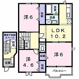 新潟県新潟市南区大通黄金6丁目の賃貸アパートの間取り