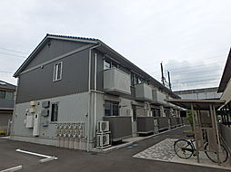 茨城県古河市東牛谷の賃貸アパートの外観