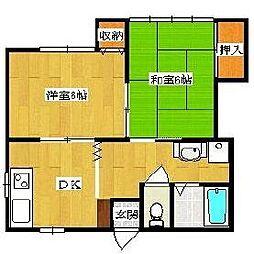 埼玉県草加市瀬崎2丁目の賃貸アパートの間取り