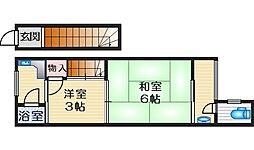 平田文化 1階2Kの間取り