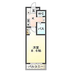 A・City羽根西[4階]の間取り