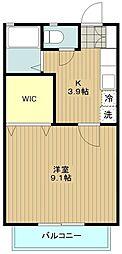 神奈川県大和市桜森1の賃貸アパートの間取り