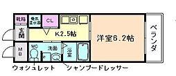 大阪府大阪市淀川区十三本町2の賃貸マンションの間取り