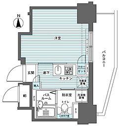 フェニックス西参道タワー 4階1Kの間取り