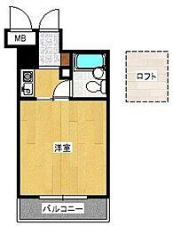 エスポワール桜坂[502号室]の間取り