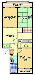 サンシティヒコタ(RC)[3階]の間取り