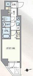 東京メトロ丸ノ内線 本郷三丁目駅 徒歩7分の賃貸マンション 8階1Kの間取り