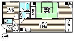 橋本ビル[9階]の間取り