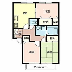 ハイマート金川IIA棟[2階]の間取り