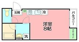神奈川県平塚市袖ケ浜の賃貸アパートの間取り