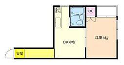 大開マンション[2階]の間取り