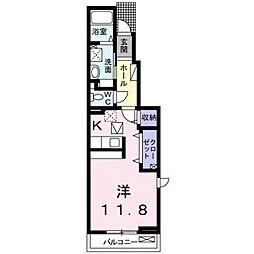 愛知県岡崎市堂前町2丁目の賃貸アパートの間取り