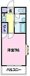 レヂオンス北野田壱番館[2階]の間取り
