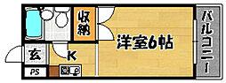 Osaka Metro今里筋線 だいどう豊里駅 徒歩8分の賃貸マンション 3階1Kの間取り