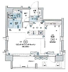 LEXE東京North II 6階1LDKの間取り