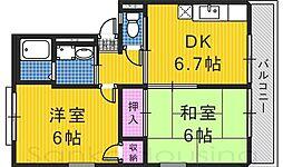 リベラル宮山台[1階]の間取り