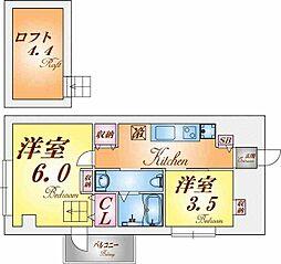 エヌエムキャラントドゥ[4階]の間取り