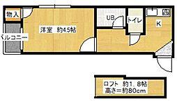 ピアハイム西新[102号室]の間取り