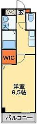 JR常磐線 天王台駅 徒歩6分の賃貸マンション 2階1Kの間取り