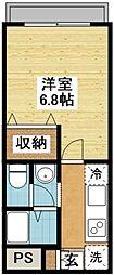 長崎県長崎市音無町の賃貸アパートの間取り
