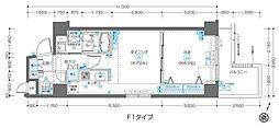 都営大江戸線 飯田橋駅 徒歩9分の賃貸マンション 3階1DKの間取り